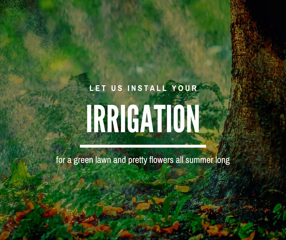 Let us install your irrigation